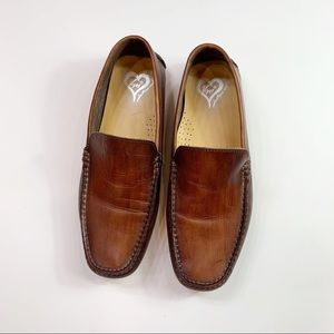 Mens Italian Leather Loafers. Size 41